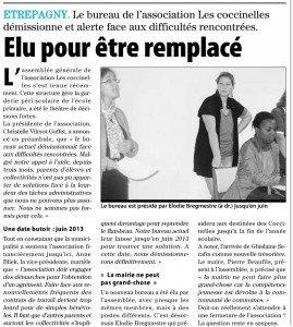 Article paru dans Paris-Normandie suite à l'Assemblée Générale 20121019_ag_coccinelles_article-269x300